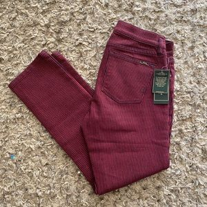 RALPH LAUREN SKINNY JEAN IN BURGUNDY& BLUE Sz 4